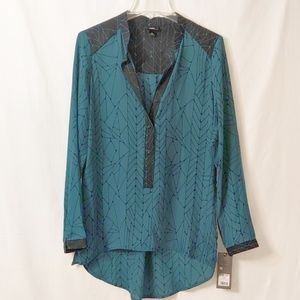Mossimo Green and Black Blouse With Tags